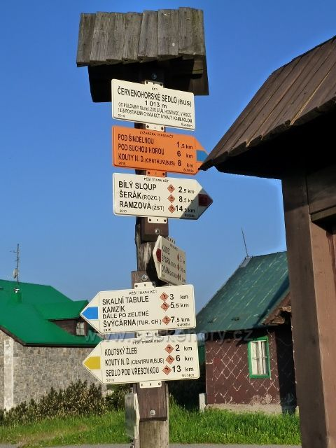 Turistický rozcestník Červenohorské sedlo