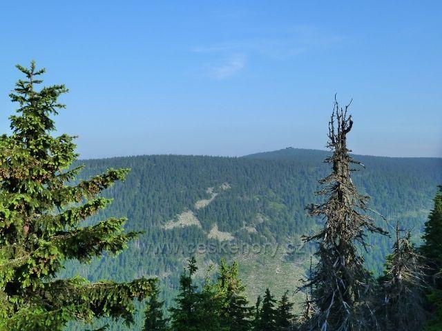 Na obzoru Vozka - pohled z cesty na Vřesovou studánku