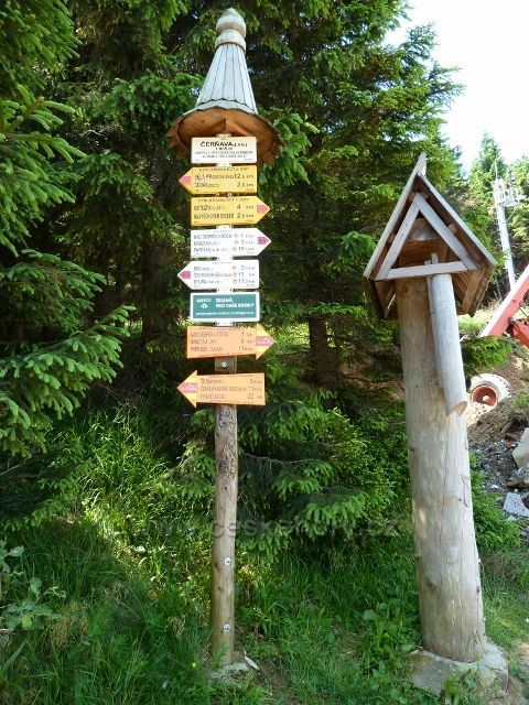 "Turistický rozcestník ""Čerňava"""