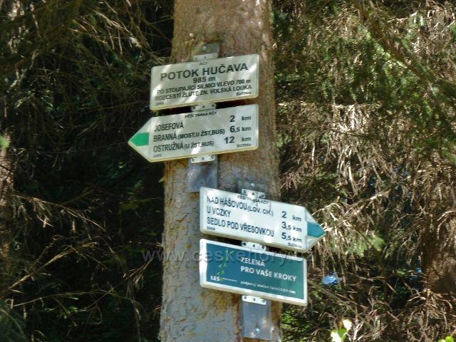"""Turistický rozcestník """"Potok Hrčava"""""""