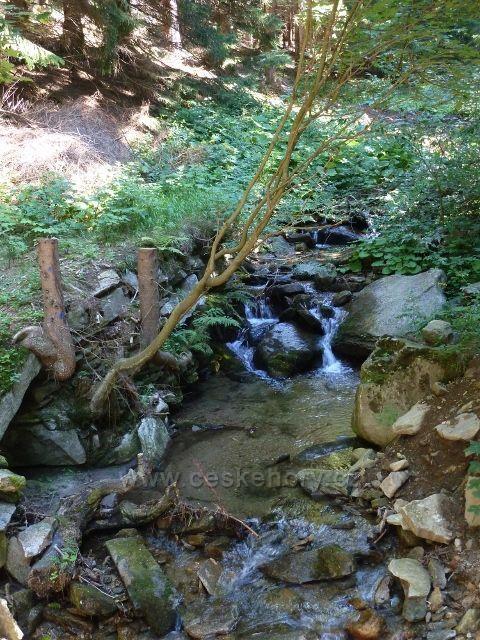 Bývalý Josefov - potok Hučava