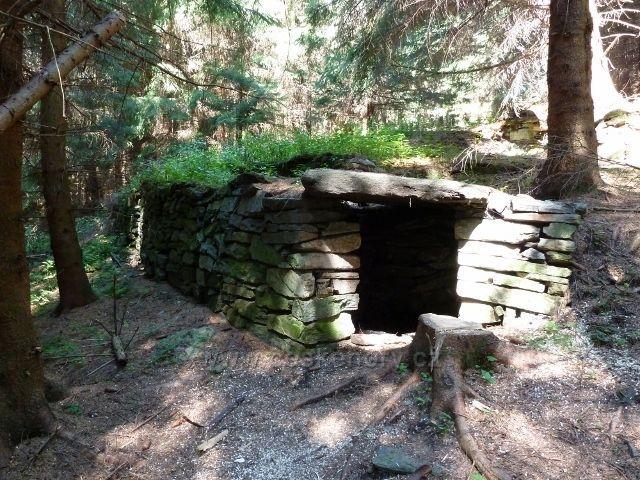 Pozůstatek po lesní železnici do Aloisova