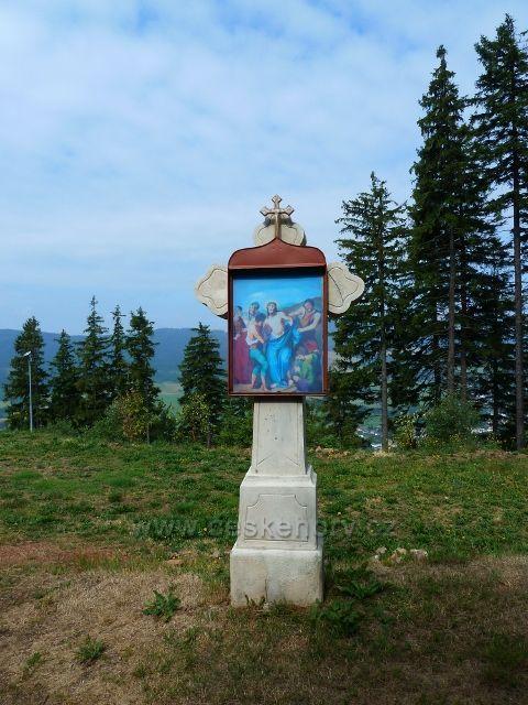 Dochované zastavení křížové cesty na Křížové hoře