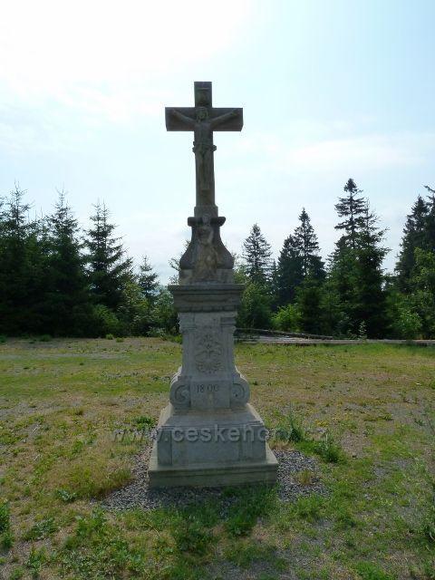 Boží muka na Křížové hoře v místech,kde stával poutní kostel