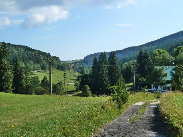 Údolí říčky Branné pod Ostružnou