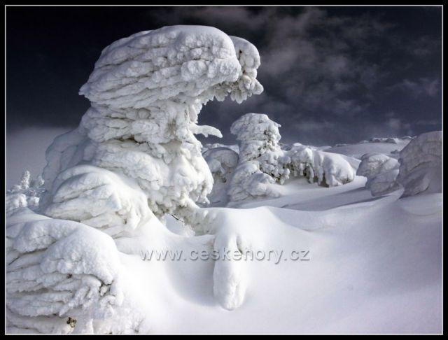 Sněhové artefakty - Sfinga