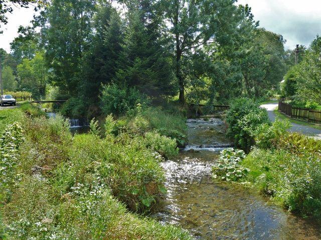 Soutok Ramzovského potoka s říčkou Staříč v Lipové