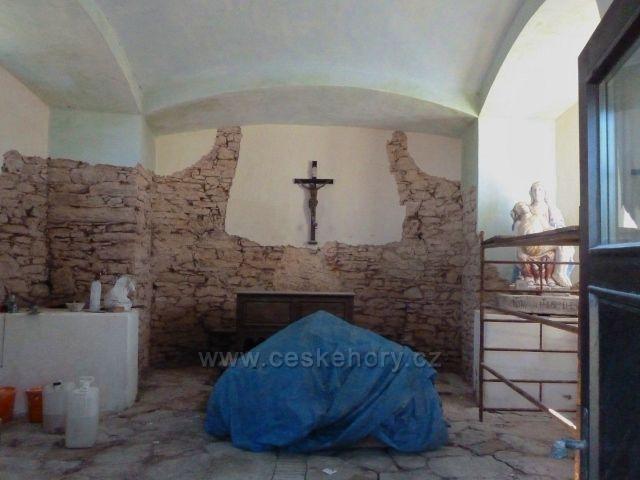 Kunštátská kaple -úprava interiéru