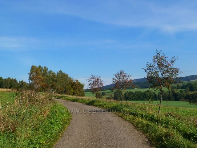 Pastviny - okružní cyklostezka Na Vrších