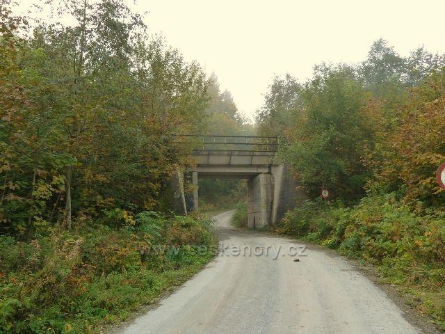 Horní Lipová - železniční most u kamenolomu