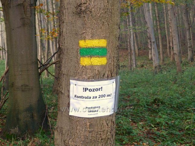 """Horní Lipová - avízo kontroly závodu """"Pradědova 100vka"""""""