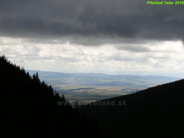 Zataženo nad Tatranskou Dolinou.