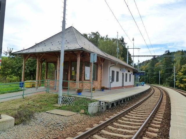 Těchonín - nádraží ČD