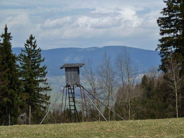 Horní Orlice - posed na okraji pastviny pod Valem