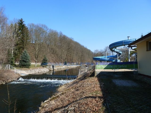 Žamberk - mostek přes Divokou Orlici u koupaliště