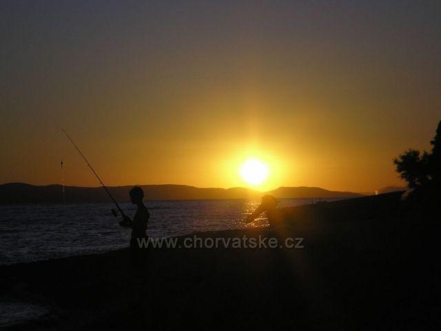Mala Duba při západu slunce