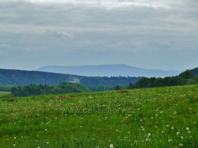 Teplické skály - pohled na Stolovou horu v Polsku