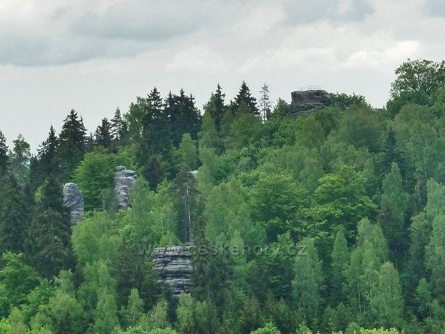 Teplické skály - vyhlídka nad skalním hradem Skály