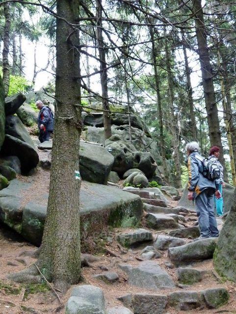 Teplické skály -romantická stezka na vrchol Čápu