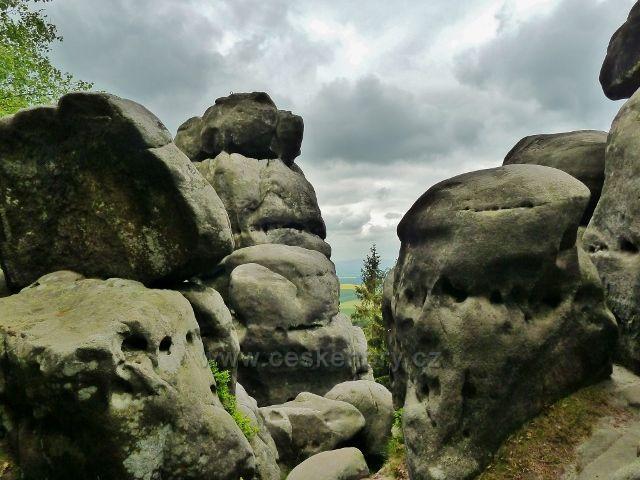 Teplické skály - vrchol Čápu - 785 m.n.m.