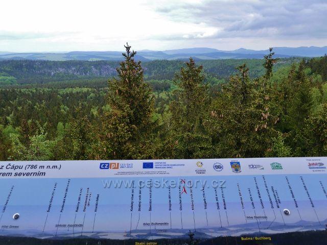 Teplické skály - pohled z rozhledny Čáp k severu