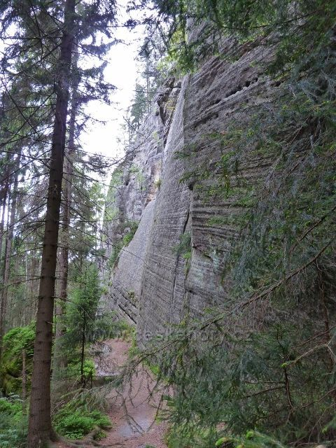 Teplické skály - skalní stěny v dolní části Teplického údolí