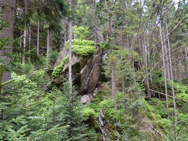 Teplické skály - balvanité dno dolní části Teplického údolí