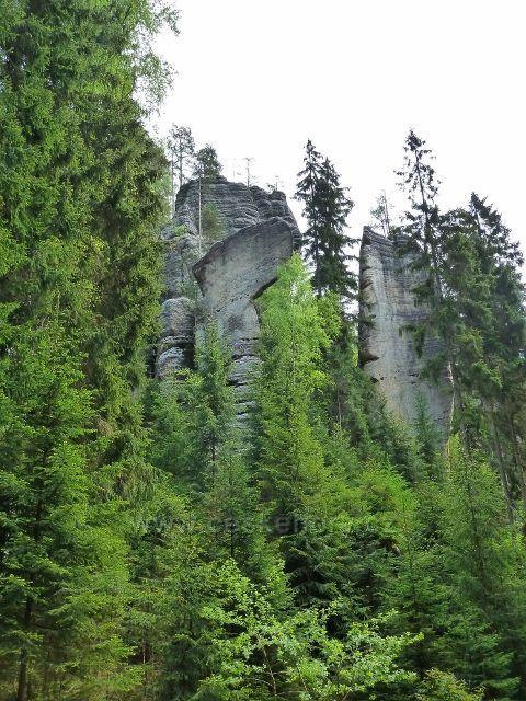 Teplické skály - Řeznická sekyra v Anenském údolí