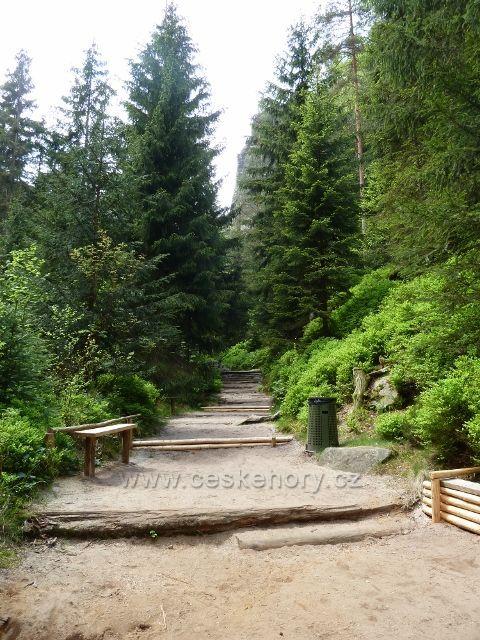 Teplické skály - hlavní prohlídková trasa prochází Anenským údolím