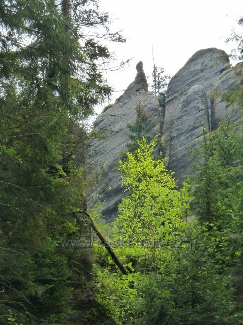 Teplické skály - skalní útvar Skalní nevěsta