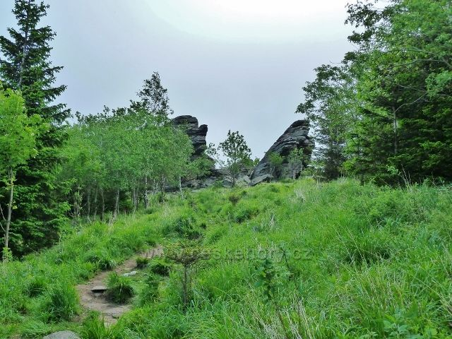 Ramzová - poslední metry před Obřími skalami