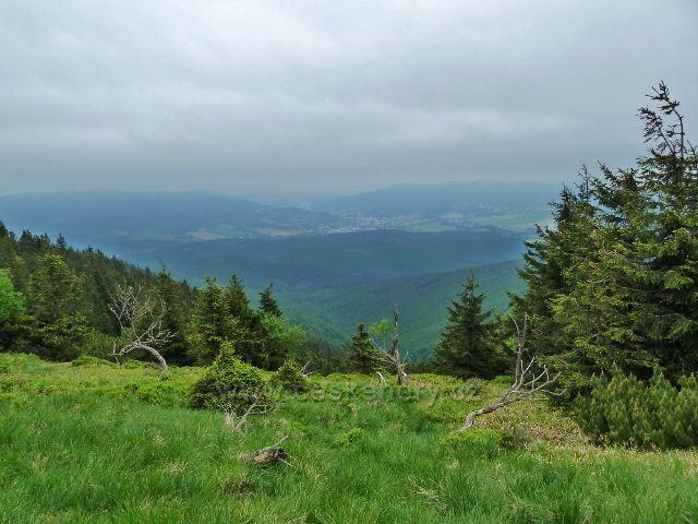 Pohled od chaty Jiřího na Šeráku k Jeseníku