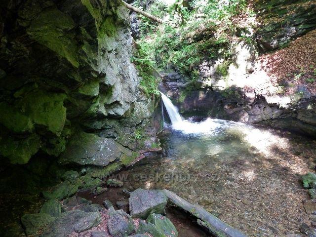 Nýznerovské vodopády - Velký vodopád Stříbrného potoka