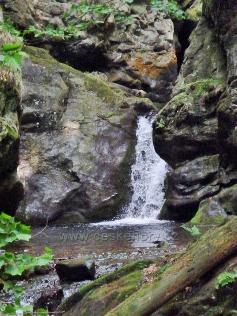 Nýznerovské vodopády - Velký vodopád na Stříbrném potoce