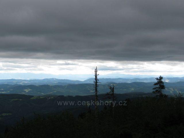 Výhled na Tatry z Lysé hory