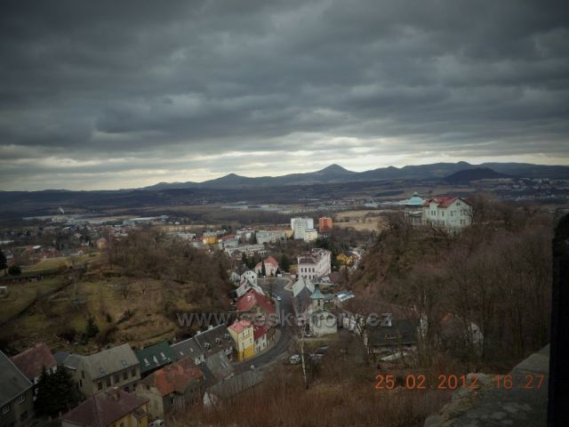 České středohoří - výhled z Růžového hrádku v Krupce