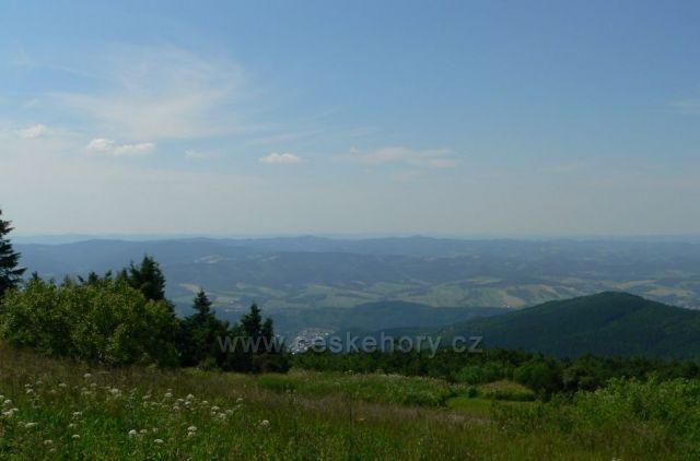 pohled z Radhoště směrem na Bečvy
