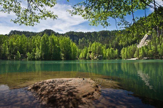 Adršpašské skály,jezero - Pískovna,