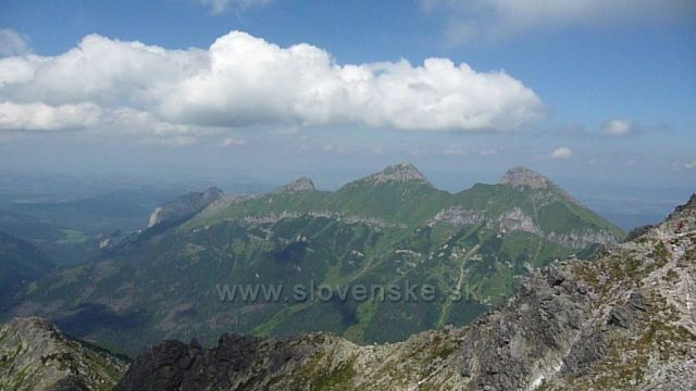 Pohled na Bielanské Tatry z Jahňacího štítu