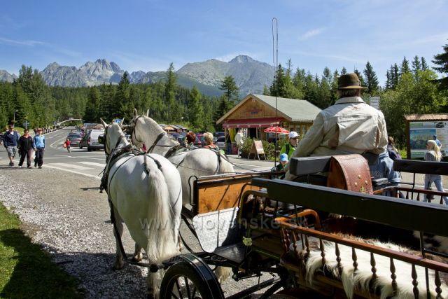 Štrbské pleso(výhled na hory přes kočár)