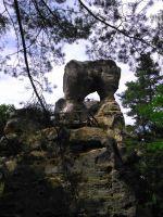 Klokočské skály - zřícenina hradu Rotštejn