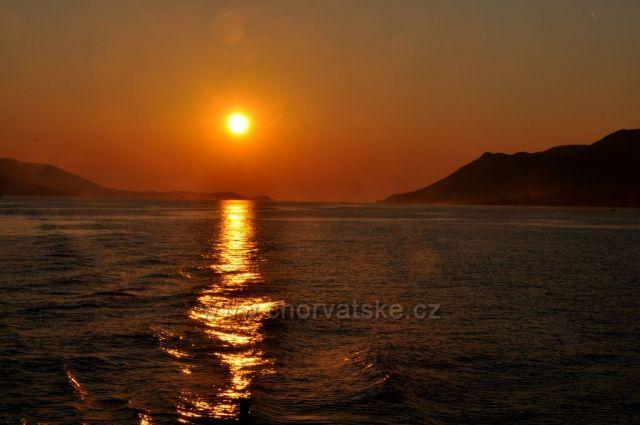Západ slnka na Pelješaci