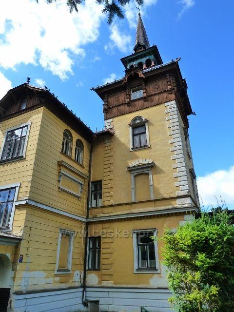 Jeseník - Cwrcekova vila z let 1899 až 1990 ve Skupově ulici