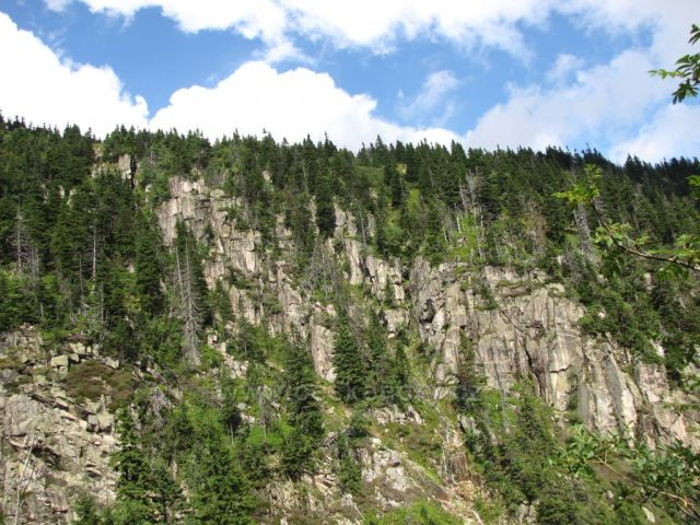 okolí Labského vodopádu, Krkonoše