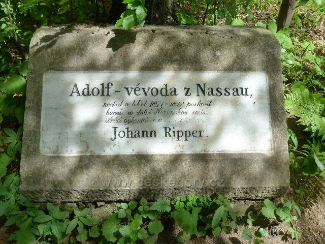Lázně Jeseník - Nassauský /Ripperův/ kámen