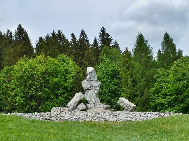 Lázně Jeseník - sochařské dílo Jana Šimka na Jižním svahu