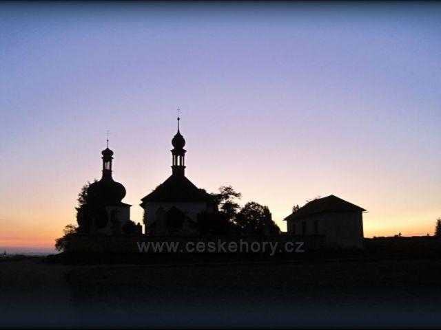 podzimní západ v Dobrušce