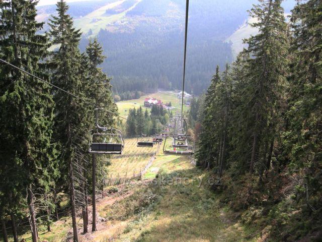 lanovkou na Hnědý vrch v Krkonoších