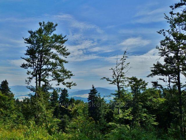 Buková hora - pohled k Hanušovické pahorkatině