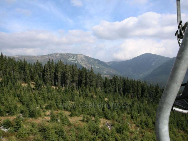 Výhled z Hnědého vrchu